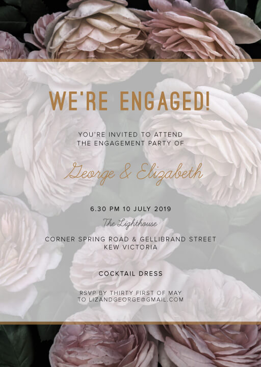 Myrtle Gentry - Engagement Invitations