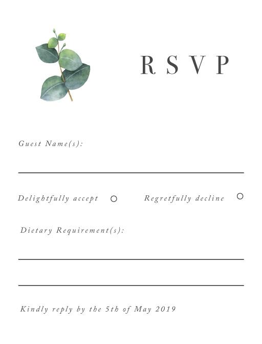 Eucalyptus - RSVP Cards