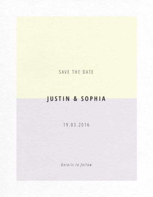 Neapolitan Icecream - Save The Date