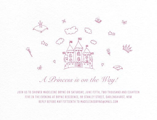 Princess Things - Baby Shower Invitations