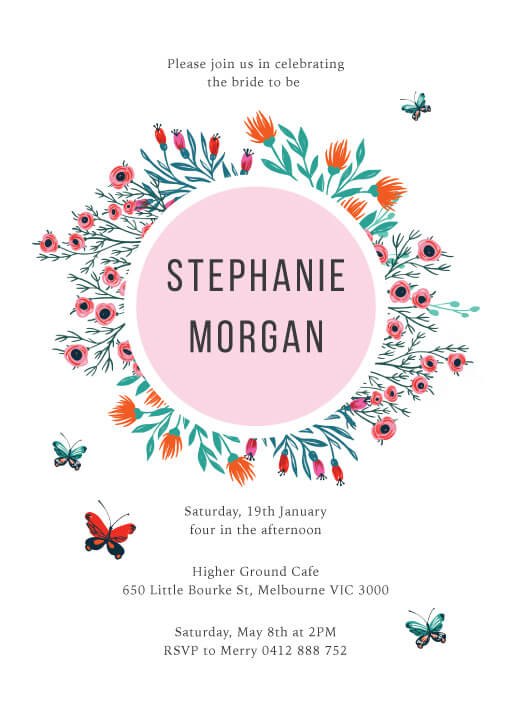In the garden - Bridal Shower Invitations