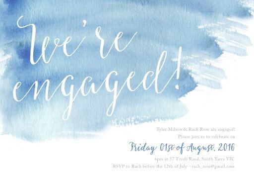 Beach - Engagement Invitations