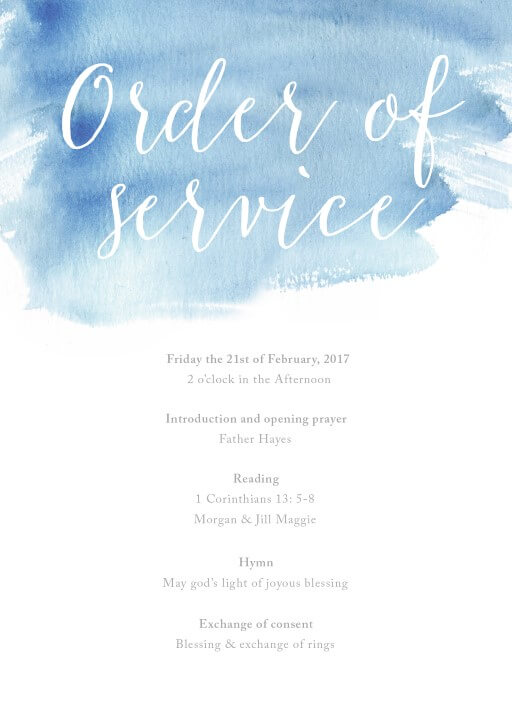 Beach - Order Of Service
