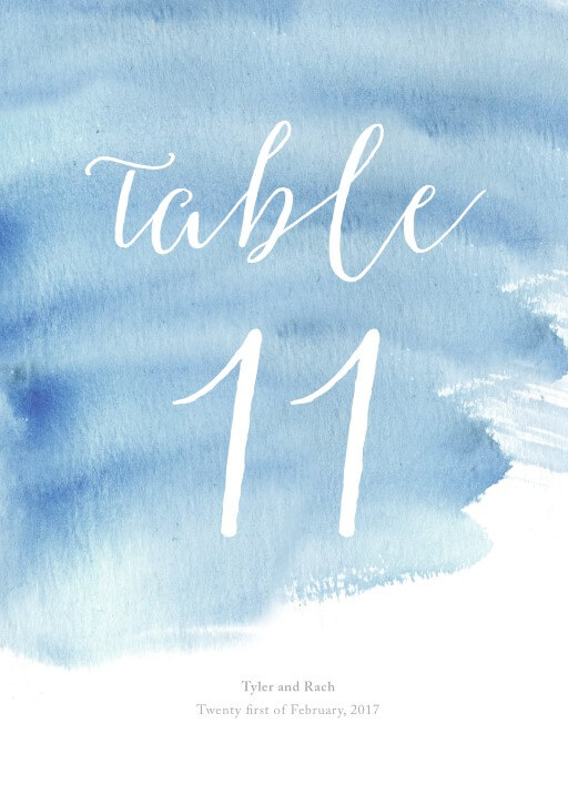 Beach - Table Numbers