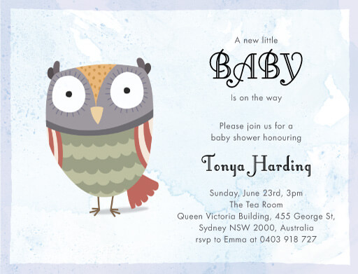 Owl Baby Cry - Baby Shower Invitations