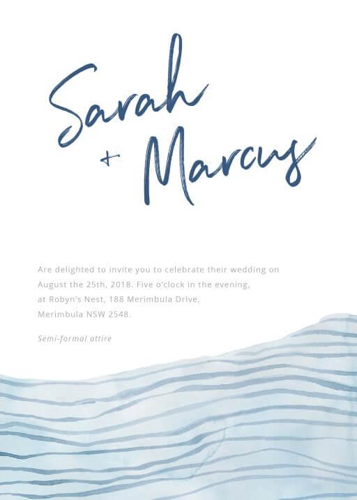 Soft Waves - Wedding Invitations