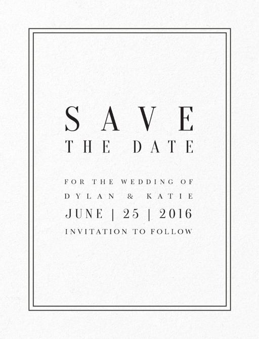 Classic Design DP – Wedding Save the Date Text