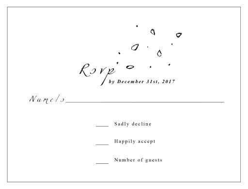 Wedding Invitation Regrets: Rsvp Cards & Rsvp Card Design. Only On...
