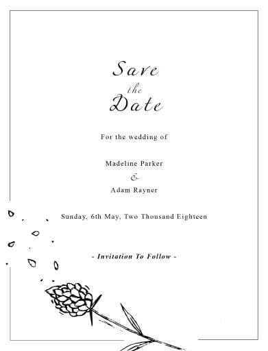 Wedding Petals - Save The Date