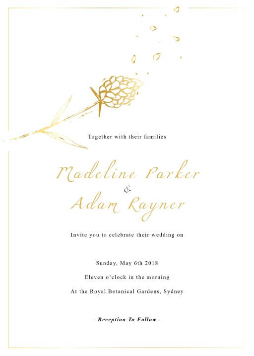 Wedding Petals - Wedding Invitations