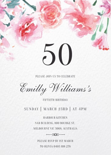 Floraison - Birthday Invitations
