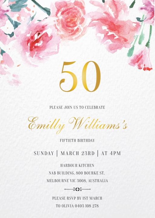 Floraison - Birthday Invitations