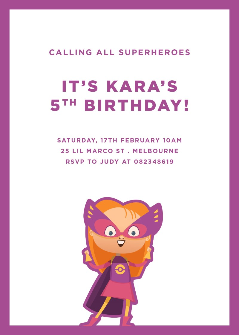Super Birthday | DP | Birthday Invitations