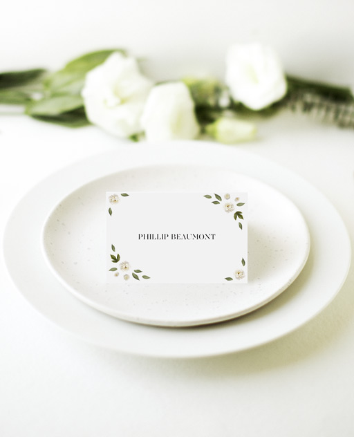 Delphine Rouge - Place Cards