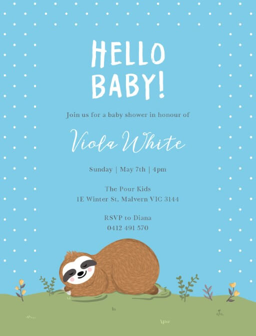 Sleeping Baby - Baby Shower Invitations