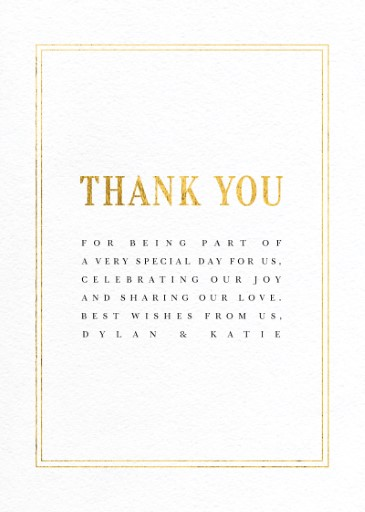 Classic Design - Thank You Cards