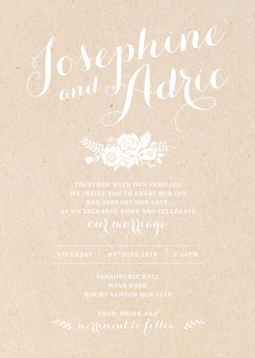 Floral Country Charm - Wedding Invitations