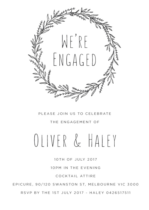 Blank Space - Engagement Invitations