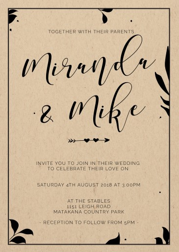 Follow Your Arrow - Wedding Invitations