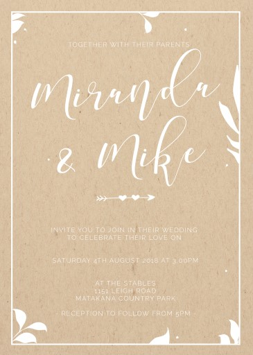 Follow Your Arrow - Wedding Invitations