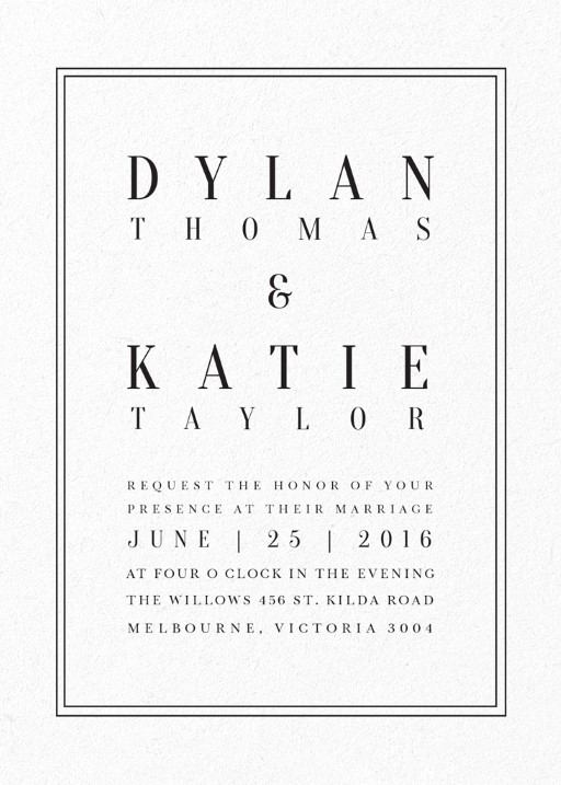 Letterpress wedding invitations designs by creatives printed by classic design invitations stopboris Image collections