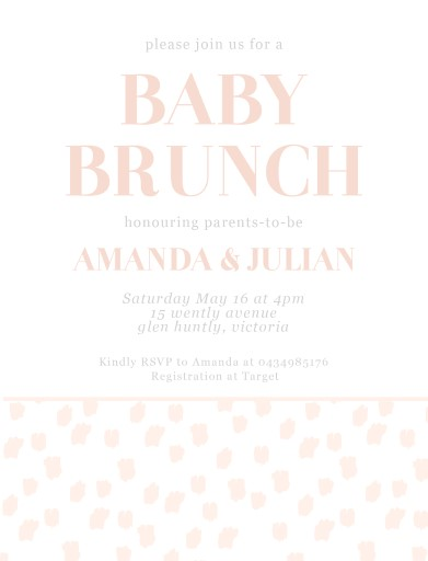 Baby Brunch Girl   Baby Shower Invitations