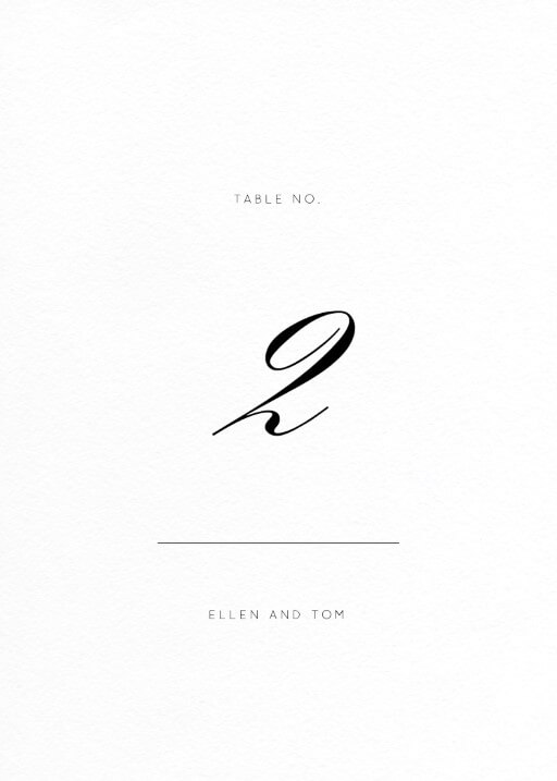 Into the Line - Table Numbers