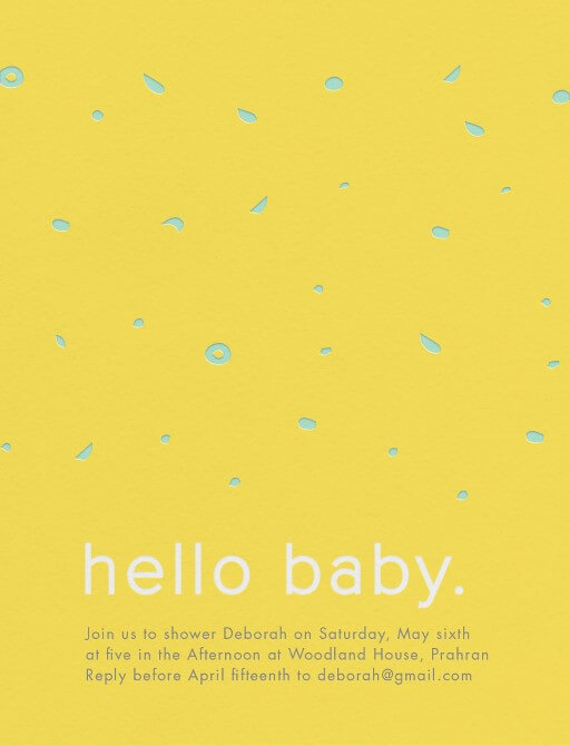 Warm Hello - Baby Shower Invitations