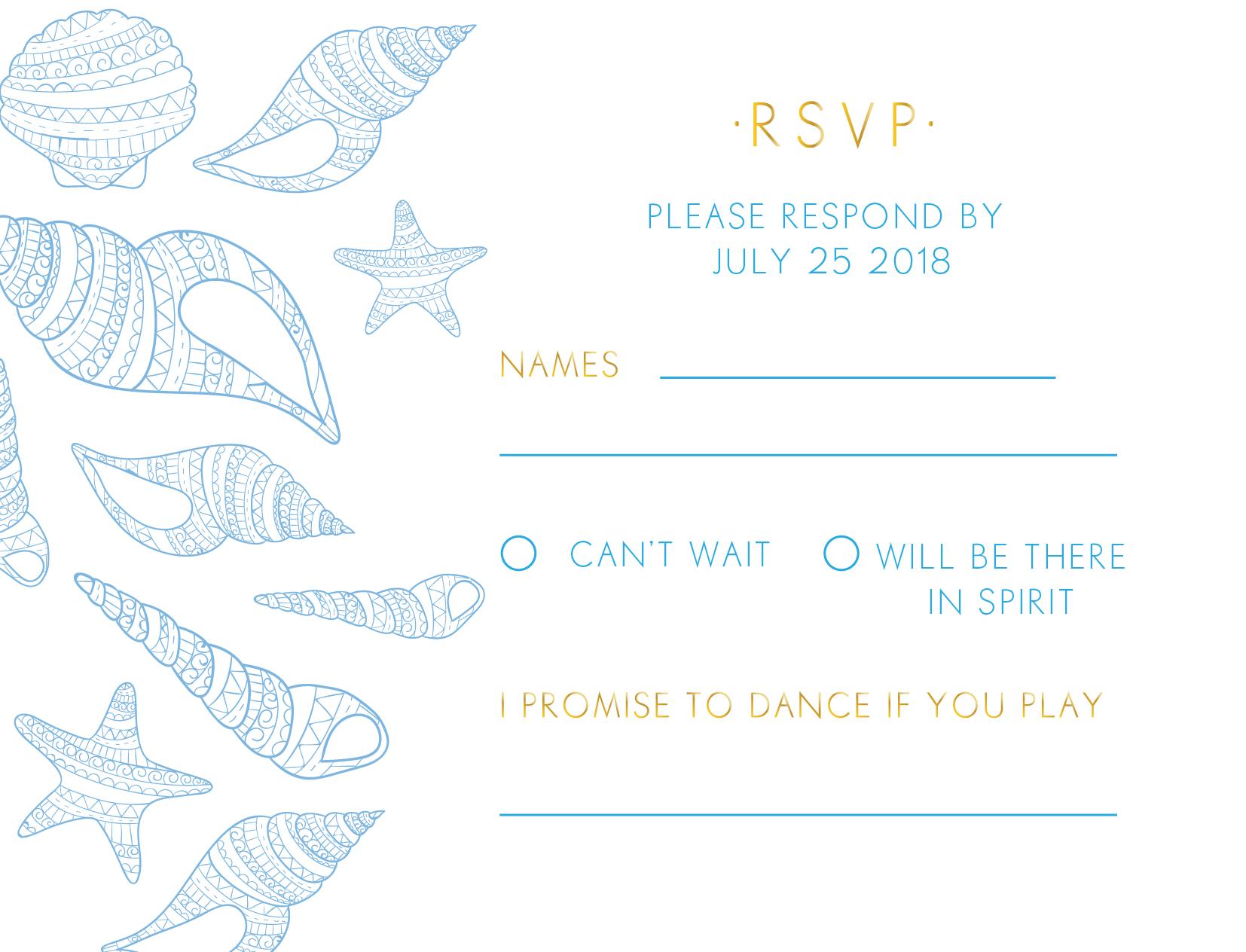 BLUE LIKE THE OCEAN - RSVP Cards