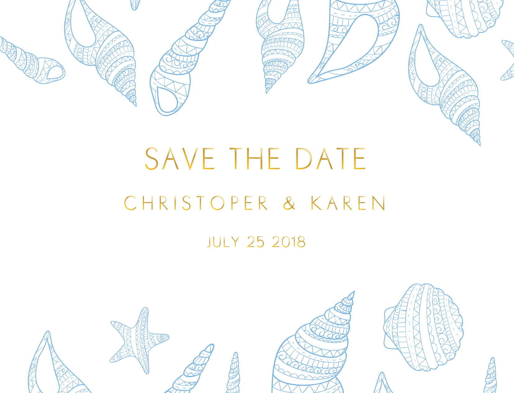 BLUE LIKE THE OCEAN - Save The Date