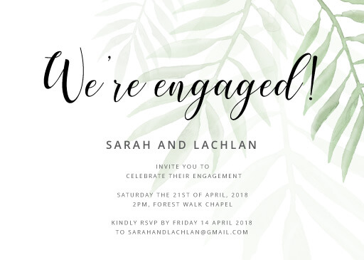 Forest Walk - Engagement Invitations