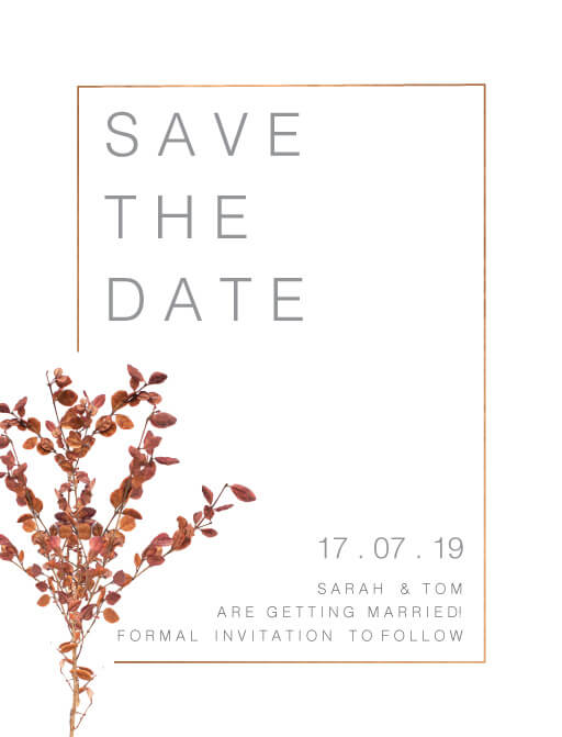 Fall leaves - Save The Date