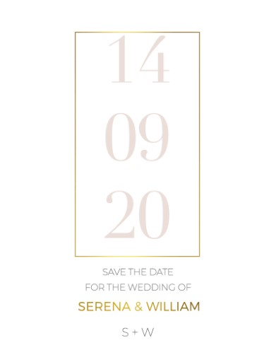 Elegant type - Save The Date