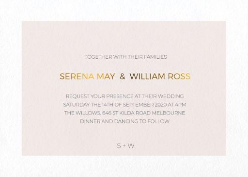 Elegant type - Wedding Invitations