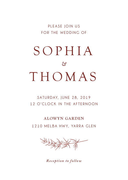 Winter Fire - Wedding Invitations