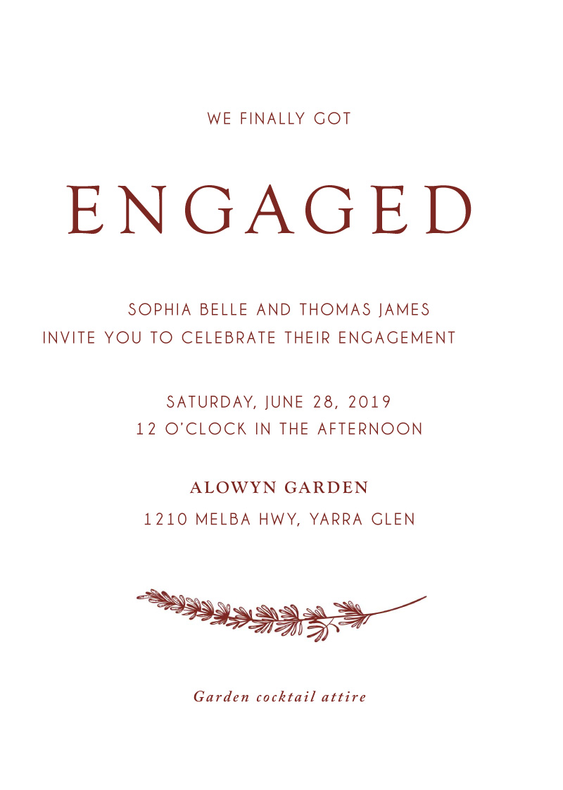Winter Fire - Engagement Invitations