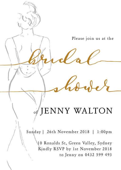 The Dress - Bridal Shower Invitations