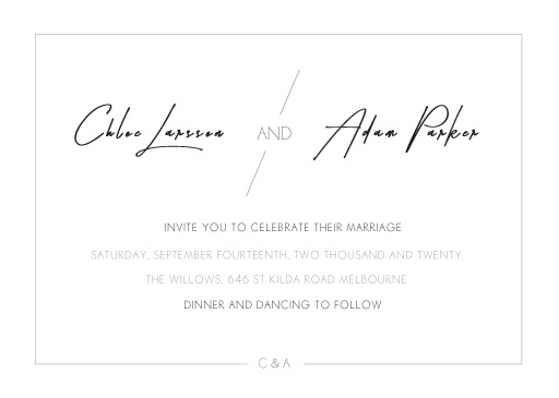 Modern Mode - Wedding Invitations