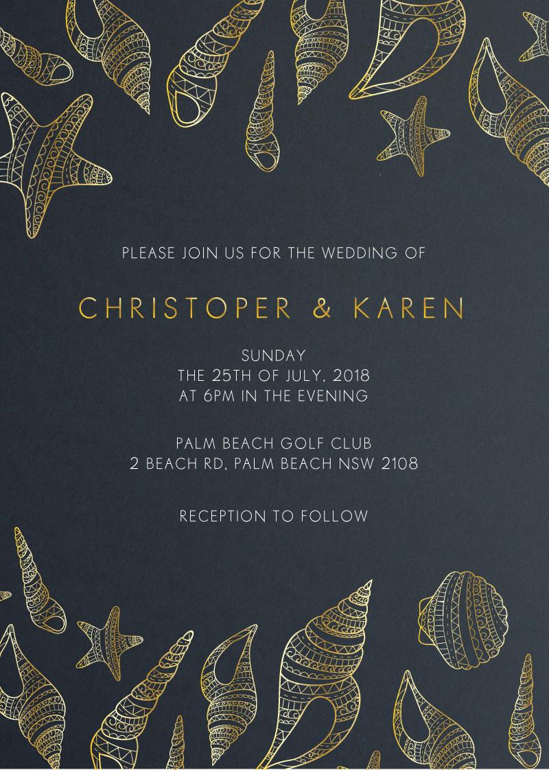 BLUE LIKE THE OCEAN - Wedding Invitations