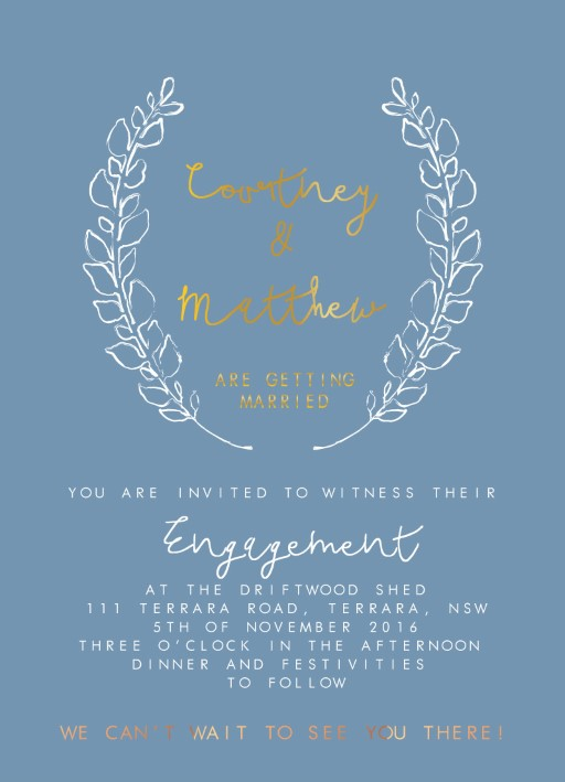 Competition Winner - Engagement Invitations