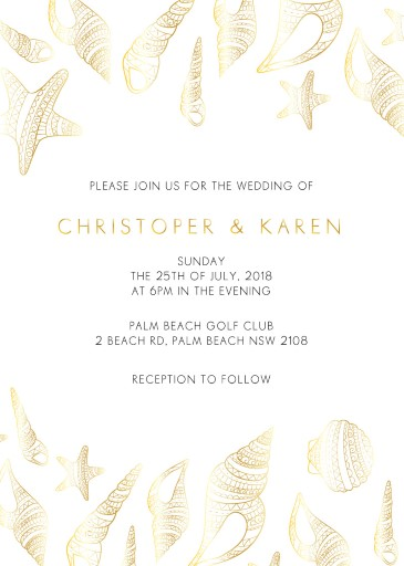 BLUE LIKE THE OCEAN - Wedding Invitations