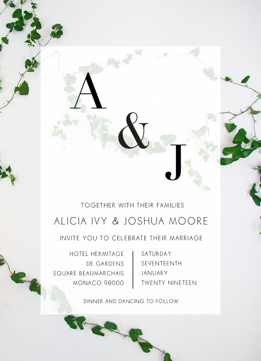 Ivy - Wedding Invitations