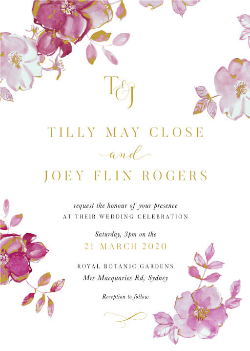 British Floral - Wedding Invitations