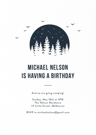 Lost in the wood - Birthday Invitations