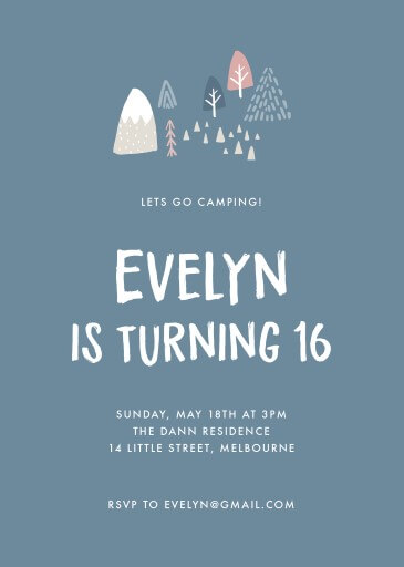 Camping party - Birthday Invitations