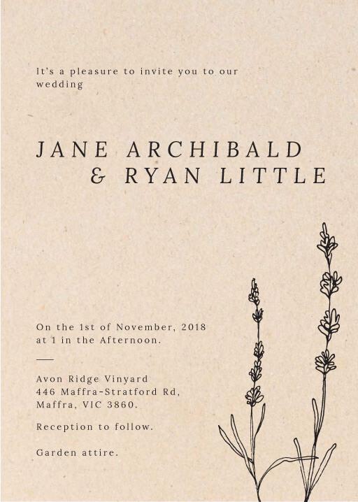 Delicate Lavender - Wedding Invitations