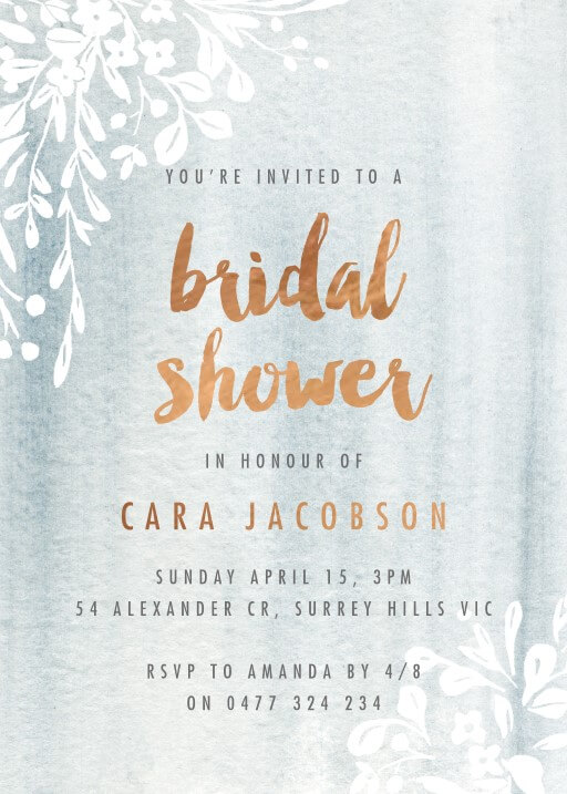 Luminosity - bridal shower invitations