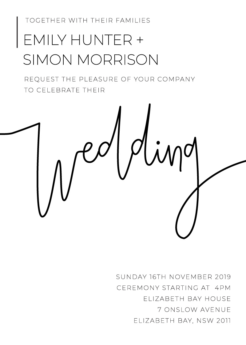 Minimalist Black And White | DP | Wedding Invitations