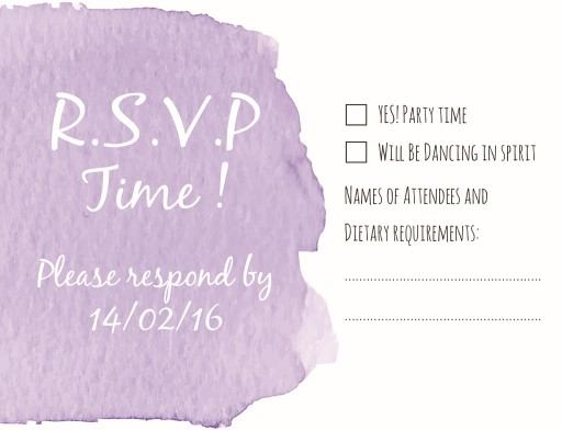 Watercolour - RSVP Cards