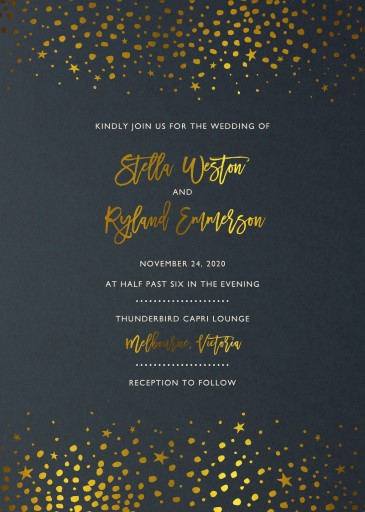 Under Stars - Wedding Invitations
